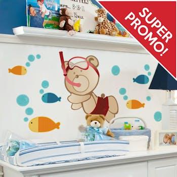 Adesivo de Parede Aqua box infantil