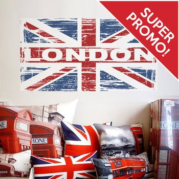 Adesivo de Parede London colorido
