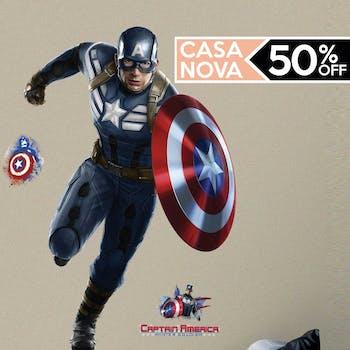 Capitão America Gigante Aplicado