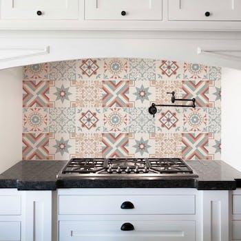 Papel de Parede Cozinha Vintage - Lavável