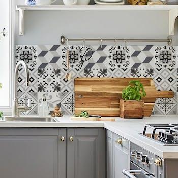 papel de parede para cozinha cinza
