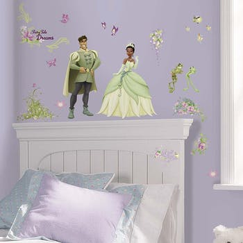Adesivo Princess & Frog Peel & Stick Wall Decals - Tiana e o sapo