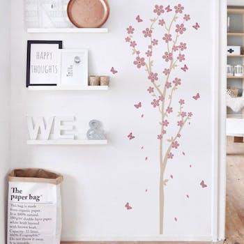 adesivo de parede arbusto cor uva