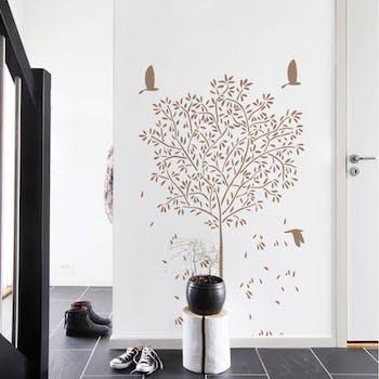 Adesivo de Parede Árvore Nim Café Magnum Grande Normal