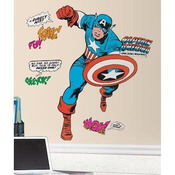 Adesivo de Parede Capitão América Cartoon Gigante