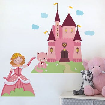 Adesivo de Parede Castelo de Fadas infantil princesa