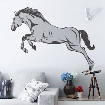 Adesivo de Parede Cavalo Preto Unico Normal