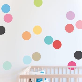 Kit Adesivo de parede circle colors