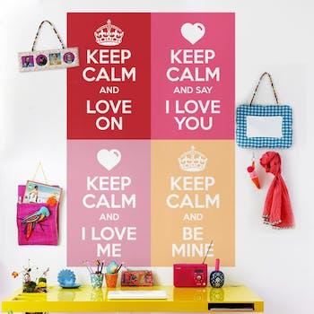 Adesivo de Parede Coleção Keep Calm Love On
