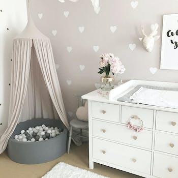 Kit de adesivo de parede coração branco