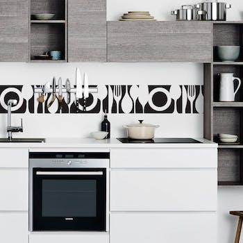 adesivo de parede faixa de cozinha preto
