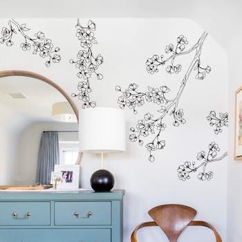 Adesivo de parede Fine Cherry blossom