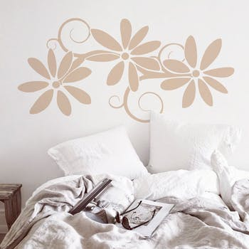 adesivo de parede floreo