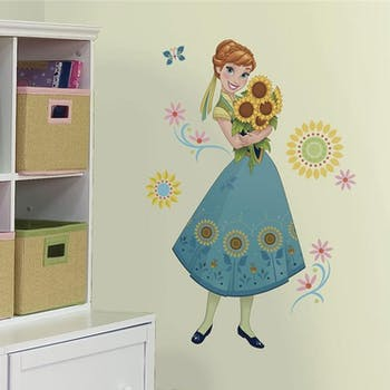 Adesivo Frozen Anna flores - Princesa Ana Frozen Fever