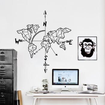 Adesivo de parede Hipster World Map