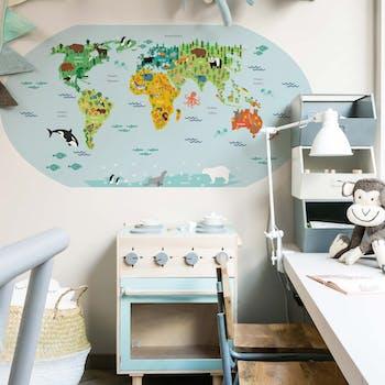 Adesivo de parede Mapa Kids