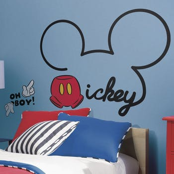 Adesivo de Parede Assinatura Mickey Gigante