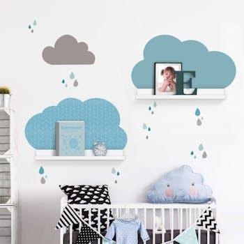 Adesivo de parede Nuvens Color Blue