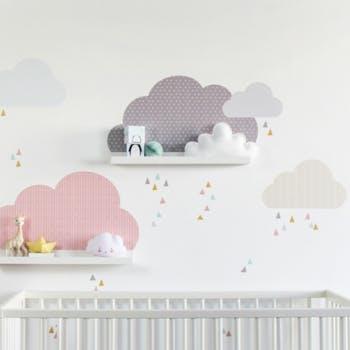 Adesivo de parede Nuvens Color Rose