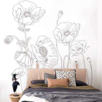 Adesivo de parede Poppy Flowers