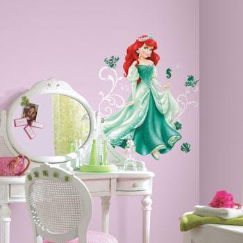 Adesivo de Parede Princesa Ariel Glitter
