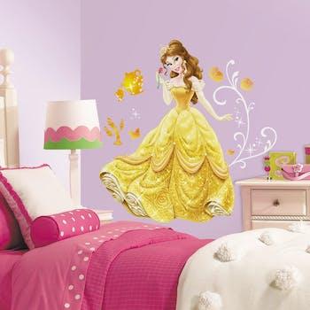 Adesivo Princesa Bela - Princesa Bela Adormecida com Glitter