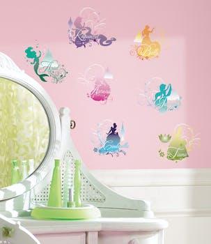 Adesivo de Parede Silhueta Princesas da Disney