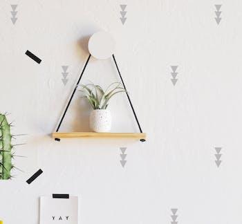 Adesivo de parede tres triangulos