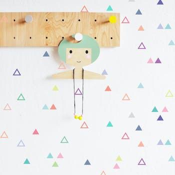 Kit de adesivo de parede triângulos fofos