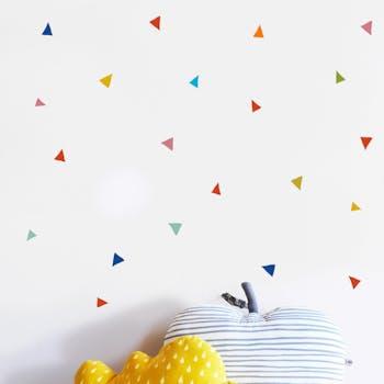Kit de adesivo de parede triangulo colors