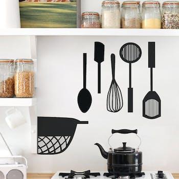 Adesivo de Parede Utensilios de Cozinha