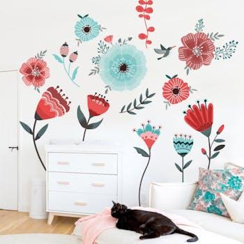 Adesivo de parede Vibra Flowers