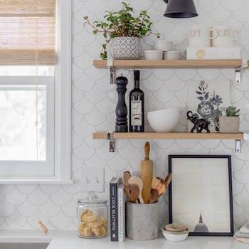 papel de parede para cozinha branco