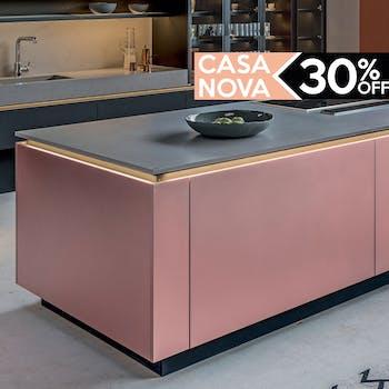Armário para Cozinha Rosa - Adesivo