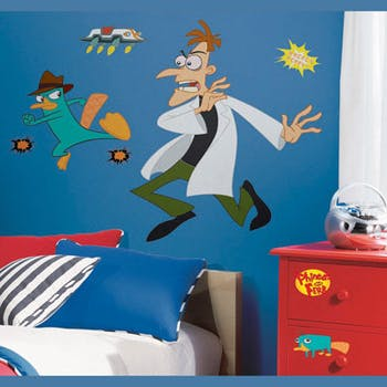 Adesivo Perry e Dr D da Disney