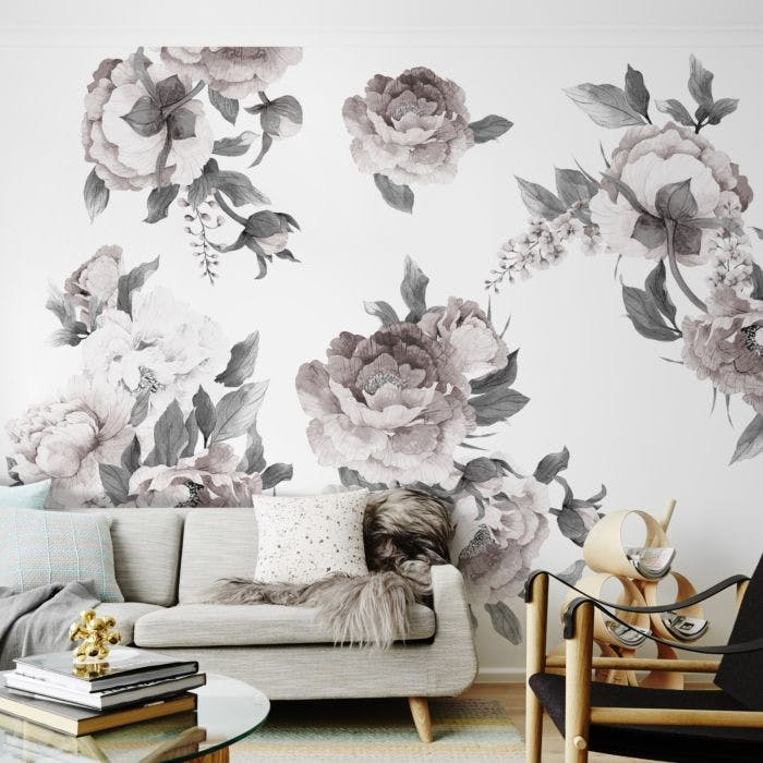 Adesivo de parede Big Flowers