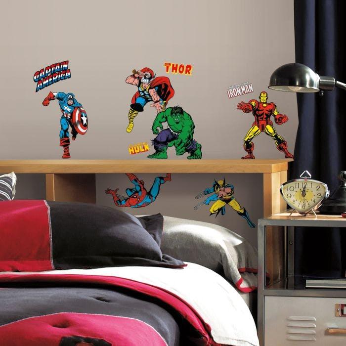 Adesivo de Parede Heróis da Marvel Cartoon