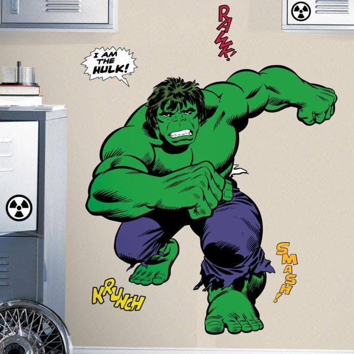 Adesivo de Parede Hulk Cartoon Gigante