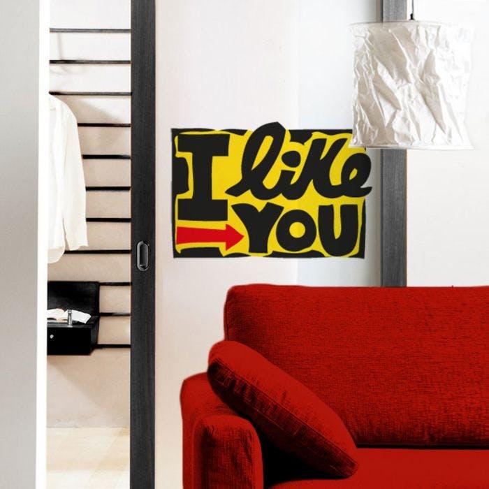 Adesivo de Parede I Like You