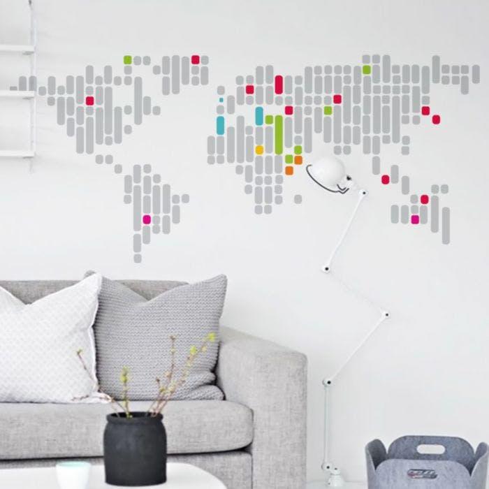 Adesivo de parede Mapa Tec