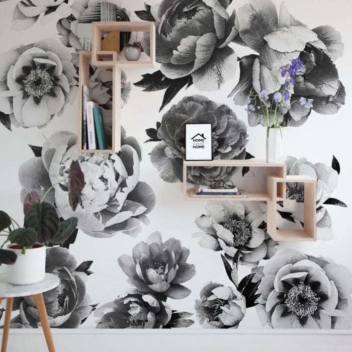 Adesivo de parede Peonies Flowers