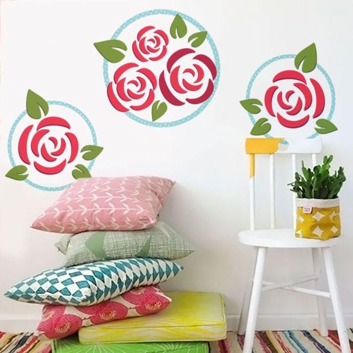 Adesivo Desenho Rosas