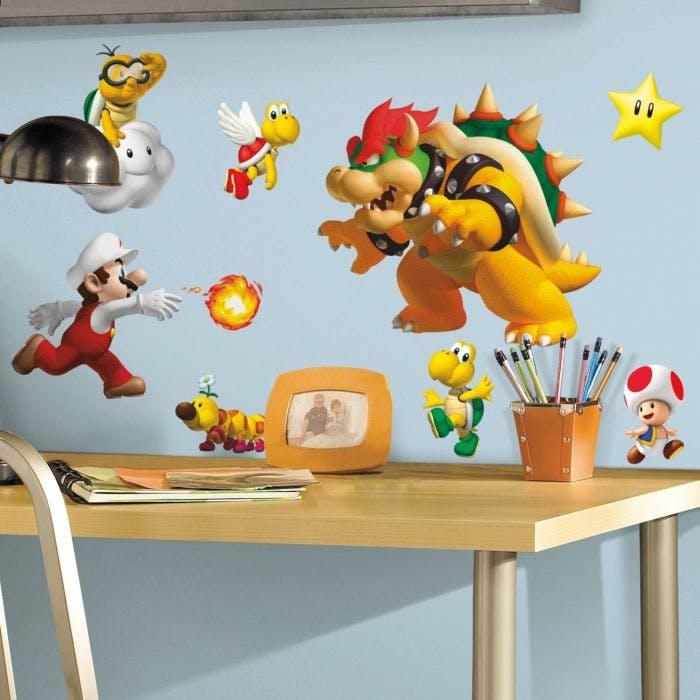 Adesivo Super Mario Wall Decals - Super Mario Bros