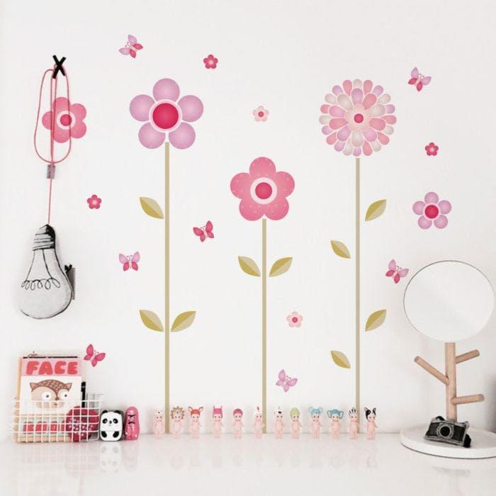 Adesivo De Parede Adesivo Decorativo De Flores Grudado