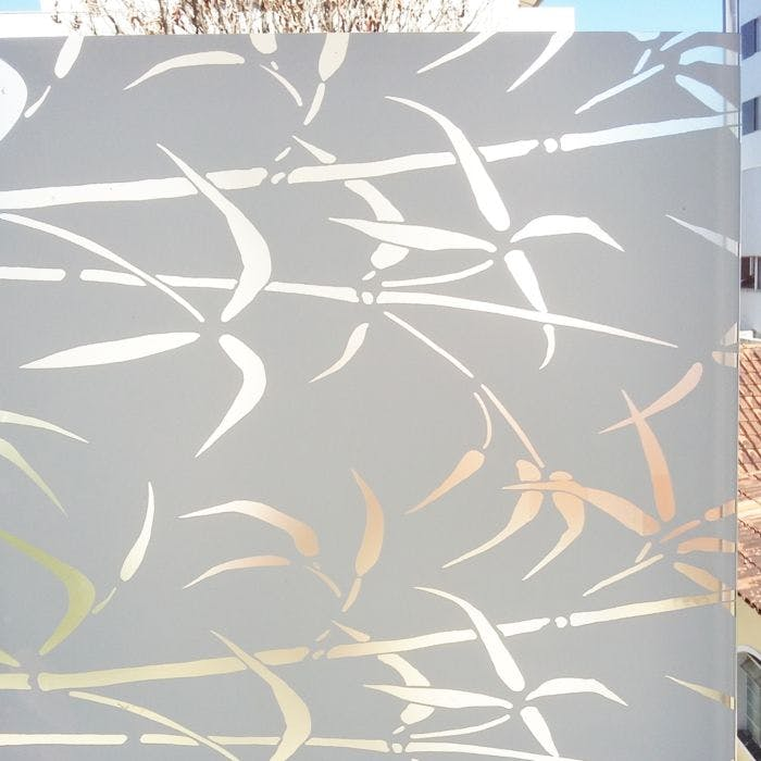 adesivo para janela bambu