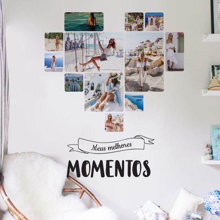 Painel de fotos personalizado Momentos