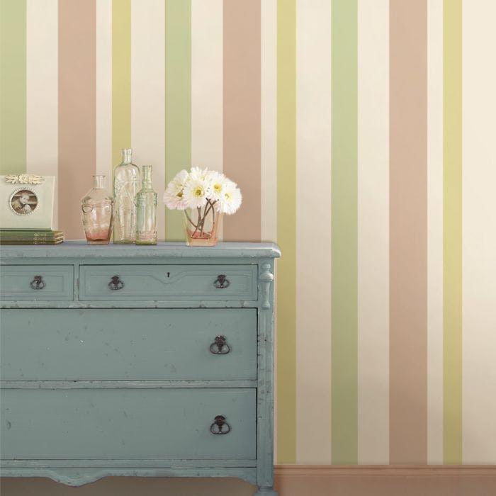 papel de parede decoracao listra pasteis verde