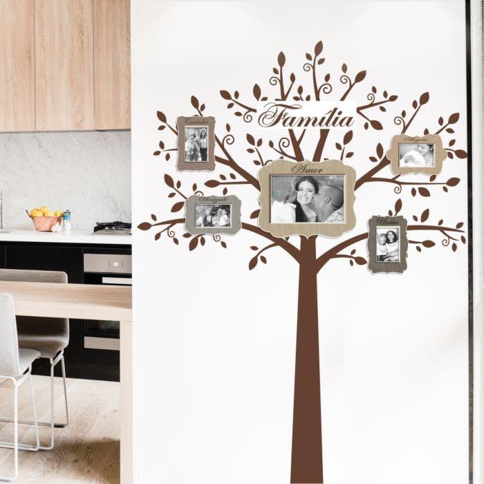 Porta Retrato de Parede Árvore Família