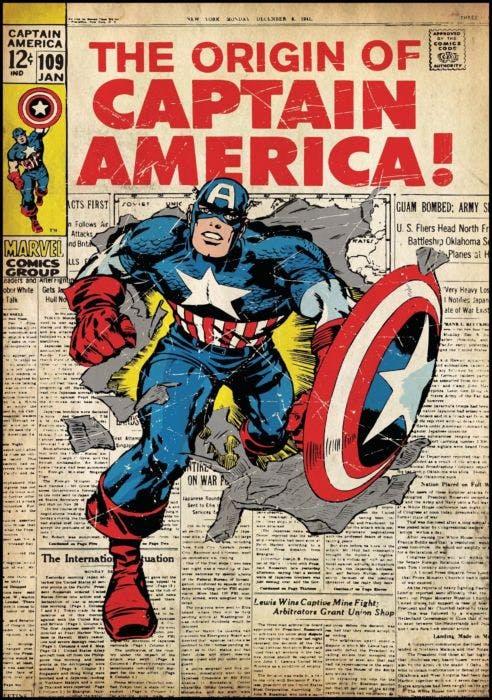 Cartela Quadrinhos Capitão América