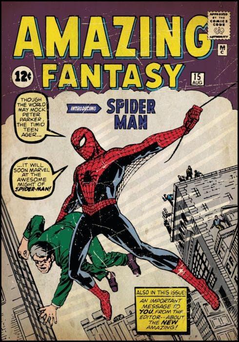 Cartela Quadrinhos Homem Aranha